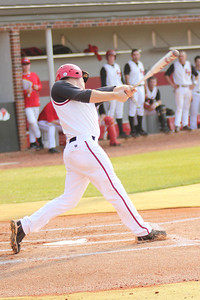 #26 Jake Watts bats against Charleston Southern.