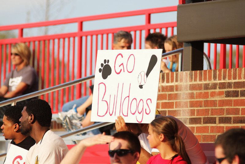Fans cheer on the Bulldogs on Friday April 8th, 2011.