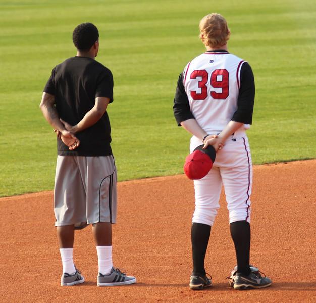 The Gardner-Webb basketball team came to support the baseball team.