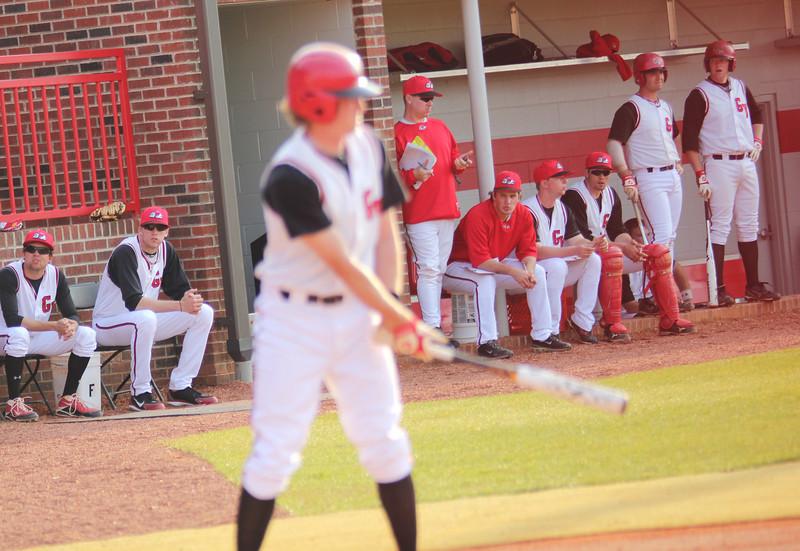 #1 Daniel Merck bats in GWU's game against Charleston Southern.