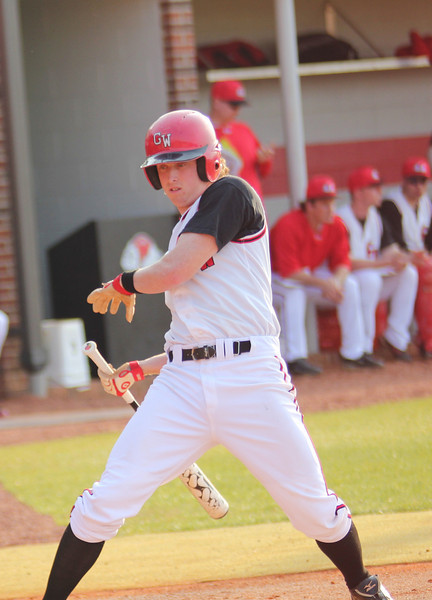 #1 Daniel Merck bats in GWU's game against Charleston Southern.