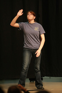 """Stephanie Oliver performing her poem, """"Calming the Storm"""""""