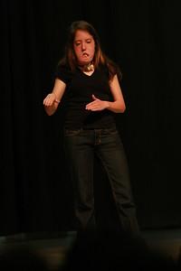 "Senior, Hannah Vaughn, performing her poem, ""Why?"""