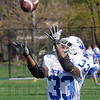 Got it: Indiana State's #33 Taje High catches the ball during Wednesday's practice at Memorial Stadium.