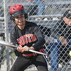 Tribune-Star/Rachel Keyes<br /> Bunt: Terre Haute South's Jena Renteria bunts a pitch into the infield in action against Northview on Thursday.