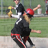 Tribune-Star/Rachel Keyes<br /> Out a Second: Northview's Ashley Hughes tags the base in time to make an out against Terre Haute South in action Thursday.