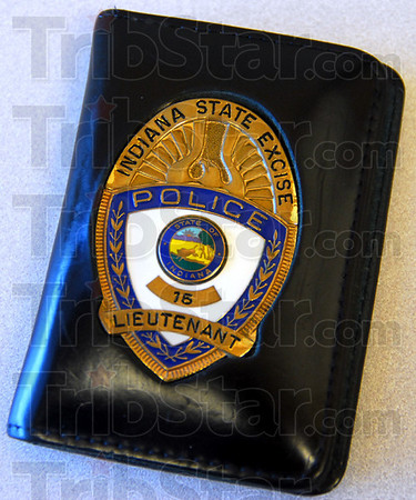 Badge: Lt. Terry Bauer will relinquish his badge after 39 years as a member of the Indiana State Excise Police.