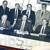 Retiring: Lt. Terry Bauer (back row, second from right) is retiring after 39 years with the Indiana State Police Excise.