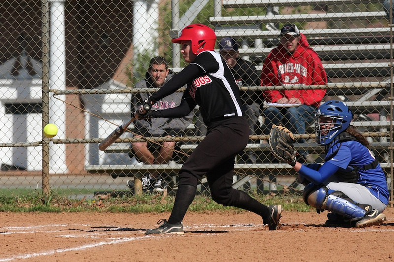 Number 18, Kelsey Witter, gets a hit.