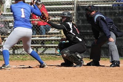 GWU catcher McKenzie Morenus.
