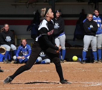 Freshman GWU pitcher, Jessica Childers.
