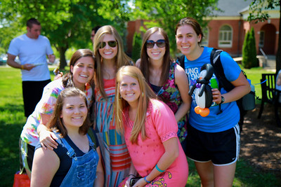 Students on the Campus of Gardner-Webb University; Spring 2011.