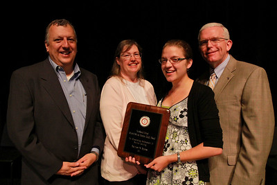 Student Leadership, Service and Volunteerism Recognition Program; Aprl 26, 2011. Alfred and Shirley Wampler Caudill Service-Learning Award: Brittany Bounds