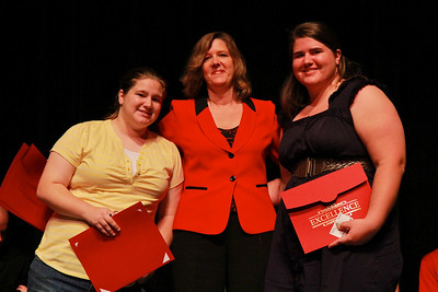 Student Leadership, Service and Volunteerism Recognition Program; Aprl 26, 2011. Peer Leader Awards: Ashleigh Blue and Alissa Coddington