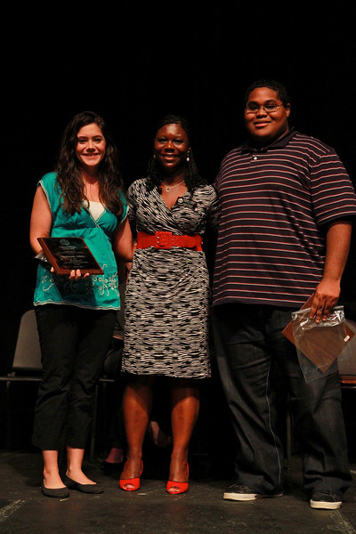 Student Leadership, Service and Volunteerism Recognition Program; Aprl 26, 2011. Residential Service and Leadership Award: Stephanie Gibbs and Charles Harris