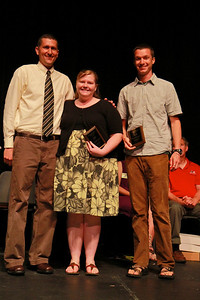 Student Leadership, Service and Volunteerism Recognition Program; Aprl 26, 2011. Charles and Sybil Shelton Outstanding Christian Service Award: Nikki Rice and Adam Velez