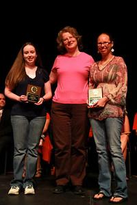 Student Leadership, Service and Volunteerism Recognition Program; Aprl 26, 2011. Math Club Sigma Leadership Award: Amanda Buff and Sarah Bunker