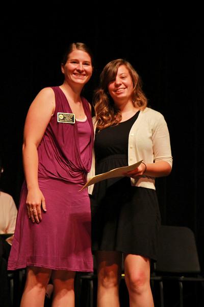 Student Leadership, Service and Volunteerism Recognition Program; Aprl 26, 2011. Community Garden Leader Award: Brittany Mote