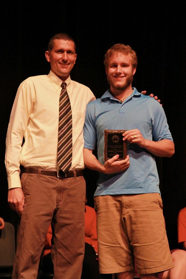 Student Leadership, Service and Volunteerism Recognition Program; Aprl 26, 2011. Fellowship of Christian Athletes Christian Service Award: Matt Leonard