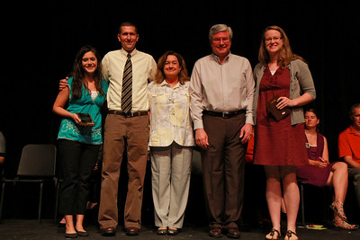 Student Leadership, Service and Volunteerism Recognition Program; Aprl 26, 2011. Pamela Darnell Christian Mission Award: Stephanie Gibbs and Hannah Dagenhart