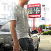 High prices: Ryan Hovermale pumps gas in his car Tuesday afternoon at the Wabash Avenue Speedway station.