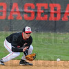 Tribune-Star/Jim Avelis<br /> Spring opener: Ricky Wheatfill scoops up a ground ball from his position at hsortstop in the Braves game with New Haven.