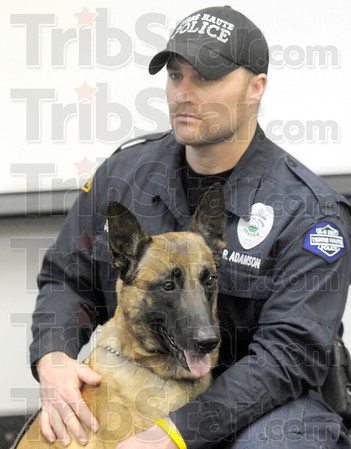 Ben: K-9 officer Ryan Adamson and his dog named Ben are introduced as the newest K-9 team that will soon be on the streets of Terre Haute. Ryan and Ben will bring the total of K-9 teams to ten.