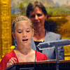 Tribune-Star/Jim Avelis<br /> Winner: Brylye Jones, a fifth grader at the Rural Community Academy, reads her winning entry in the Max Ehrmann Poetry Competition.