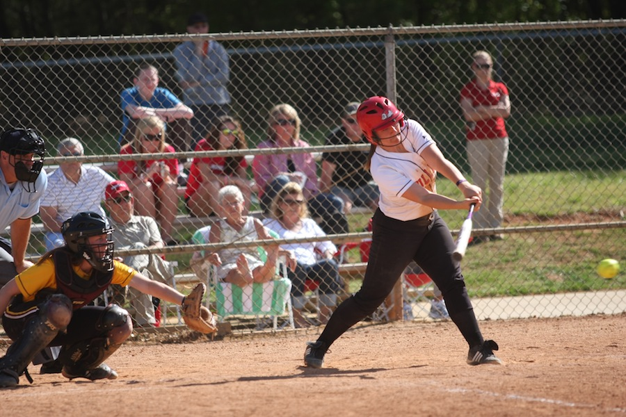 Number 17, McKenzie Morenus, hitting.