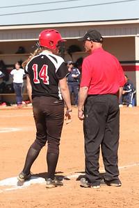 Samantha Meenaghan talks to Coach Cole.