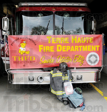 Tribune-Star/Rachel Keyes<br /> Blitz: The Terre Haute Fire Department will be passing out free smoke detectors on April 23 at the old Arby's on Wabash.