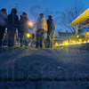 Tribune-Star/Jim Avelis<br /> Friends: About twenty friends of the Lewis family held an impromptu gathering, a time to remeber those who died as a result of the early Saturday morning fire on South Ninth Street.
