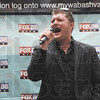 "Tribune-Star/Rachel Keyes<br /> Belt it out: Tom Kelly belts out Marvin Gaye's ""Heard it Through the Grapevine"" for his 30 second audition in the X-Factor try-outs Saturday at Honey Creek Mall hosted by FOX-38."