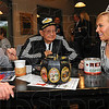 Tribune-Star/Jim Avelis<br /> Across the years: Lucille and Logan Smith talk with Indy 500 princess Taylor Schaffer at the kickoff breakfast Saturday morning at Clabber Girl. The Smiths have been attanding the Indianapolis 500 for decades. He started in 1937, Lucille in 1945.