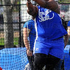 Tribune-Star/Jim Avelis<br /> National champion: Felisha Hohnson competes in the hammer throw Saturday morning at the Pacesetter Invitational track meet.