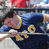 Tribune-Star/Rachel Keyes<br /> Pull: Rose-Hulman student Nick Addante pulls for the Alpha Tau Omega team in the Pike Fire Truck Pull for the Special Olympics.
