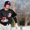Tribune-Star/Rachel Keyes<br /> Round it out: Terre Haute South's Colton Rupska rounds second base and into third in action against Mt. Vernon Saturday evening.