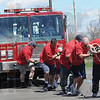 Tribune-Star/Rachel Keyes<br /> Tug it out: The Terre Haute Fire Department team put in a time of 18.66 seconds in the first round of the Pike Fire Truck Pull proceeds benefit the Special Olympics.