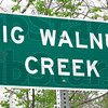 Sign: Big Walnut Creek sign detail.