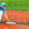 Tribune-Star/Jim Avelis<br /> Tap: ISU shortstop Tyler Wqampler tags second base to force out a Ball State baserunner.