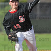 Tribune-Star/Jim Avelis<br /> Starter: Brent Mulvihill was the starting pitcher for the Terre Haute South Braves Wednesday evening.