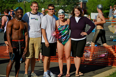 Students and community participate in Tri for the Lar, a Triathlon to raise funds for the Davis Lar Children's Home.