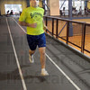 Music man: Josh Bedford runs a few laps in the Student Recreation Center Thursday afternoon.