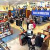 Books: Interior of the new Barnes & Noble bookstore.