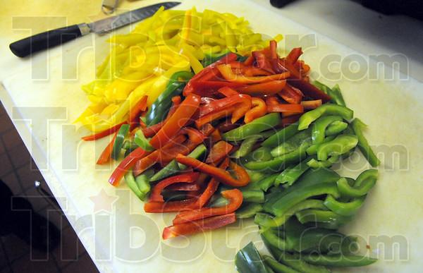 CHIPS: Detail photo of prepared food at Pino's.