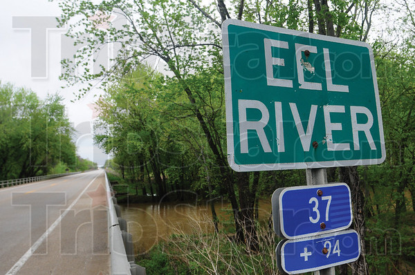 Tribune-Star/Rachel Keyes<br /> Flooding possible: The Eel River is has reached flood stage with more rain in the forecast.