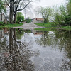 Tribune-Star/Rachel Keyes<br /> Minor flooding: The street of West Terre Haute are already filled with water as the Wabash Valley look ahead to more rain.