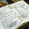 Book: Detail photo of registry book for Kern funeral.
