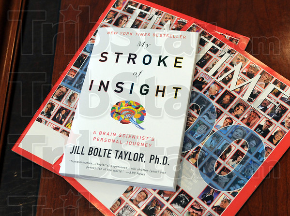 Bestseller: Detail photo of Time Magazine and Dr. Jill Bolte Taylor's bestselling book.
