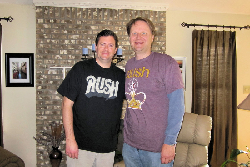 Dan and Scott, before the Rush concert in Louisville.